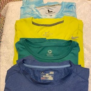 Under Armour plus 3 other brands size L